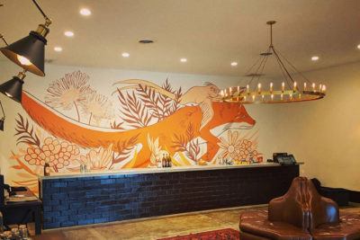 Flying Fox Winery mural