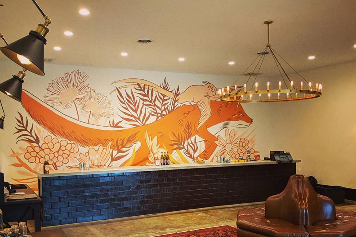 Flying Fox Winery mural