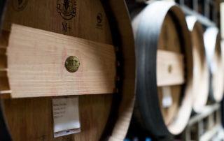 Veritas Vineyard and Winery barrels
