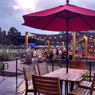 Outdoor dining at Devils Backbone