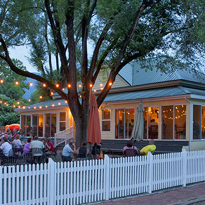 Outdoor dining at Wild Wolf
