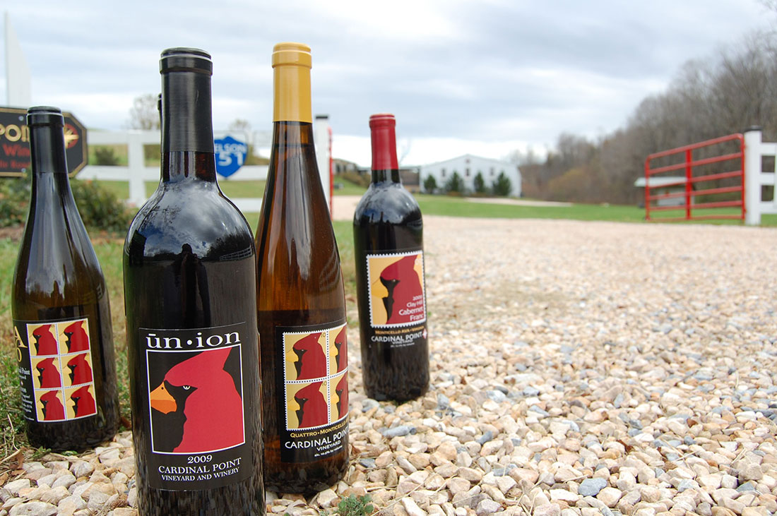 Cardinal Point Winery wines