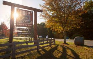 Bold Rock Hard Cider entrance