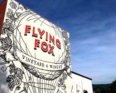 Flying Fox Vineyard outdoor mural